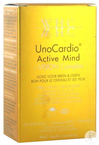 WHC Unocardio Active Mind + Vision Complex 30 Softgels