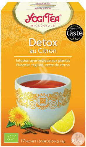 yogi tea detox au citron 17 sachets infusion achetez ici prix bas. Black Bedroom Furniture Sets. Home Design Ideas
