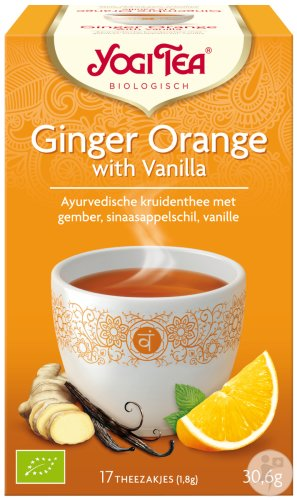 Yogi Tea Gingembre Orange À La Vanille 17 Sachets Infusion
