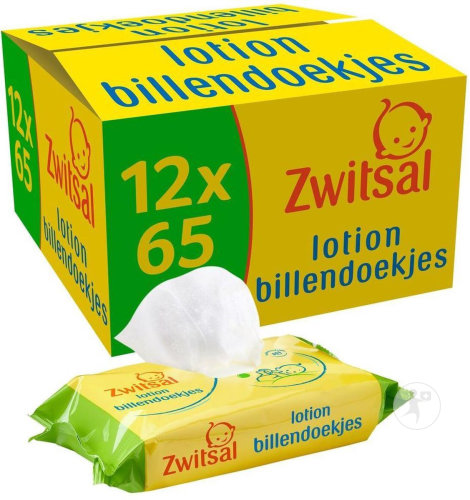 Zwitsal Lotion Lingettes Humides 12x65 Lingettes
