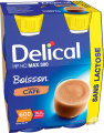Delical HP HC MAX 300 Drank Zonder Lactose Koffie Smaak Flesjes 4x300ml