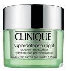 Clinique Superdefense Night Recovery Hydraterende Nachtcrème Gemengde Tot Vette Huid 50ml