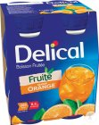 Delical Fruitdrink Sinaasappel Smaak Flesjes 4x200ml