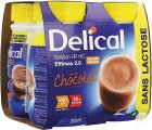 Delical HP HC Effimax 2.0 Drank Zonder Lactose Chocolade Smaak Flesjes 4x200ml