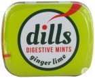 Dills Ginger & Lime Mints Z/suiker 15g