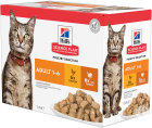 Hill's Pet Nutrition Science Plan Feline Adult Optimal Care Kip Et Dinde 12x85g