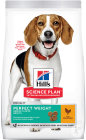 Hill's Pet Nutrition Science Plan Perfect Weight Canine Adult 1+ Medium Chicken Zak 12kg