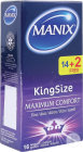 Manix King Size Condoms 14 +2