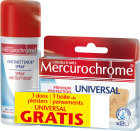 Mercurochrome Ontsmettende Spray 100ml + 20 Pleisters Universal Gratis
