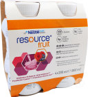 Resource Fruit Framboos Zwart Bes 4x200ml 12415273