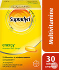 Supradyn Energy Multivitamines En Mineralen Met Co-Enzym Q10 Tabletten 30