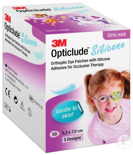 3M Opticlude Silicone Oogpleister Girl Midi 50 Stuks