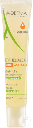 A-Derma Epitheliale A.H. Duo Massage Gel-Olie Tegen Merken Tube 40ml
