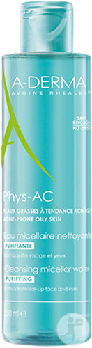 A-Derma Phys-AC Zuiverend Micellair Water Huid Met Neiging Tot Acne Fles 200ml