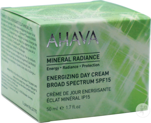 Ahava Mineral Radiance Energizing Day Cream Broad Spectrum SPF15 50ml