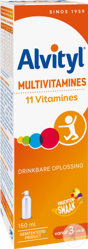 Alvityl Multivitaminen Drinkbare Oplossing Fles 150ml