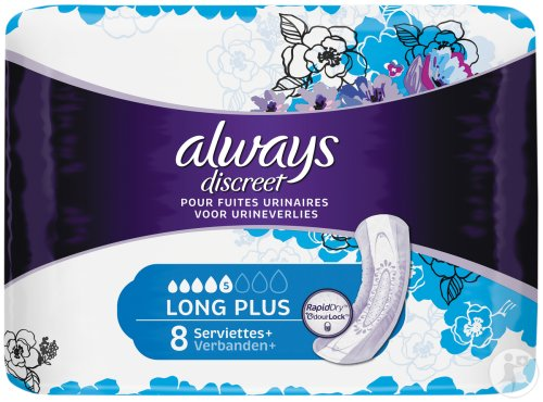 Always Discreet Urineverlies Verbanden Long Plus 8 Stuks