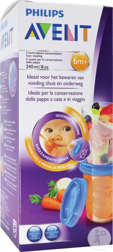 Avent Via Natural Bewaarbekers 5x240ml