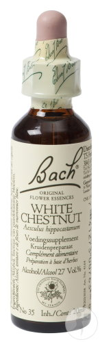 Bach Flower Remedie 35 White Chestnut (Paardenkastanje) 20ml