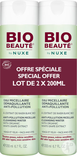 Bio Beauté By Nuxe Reinigend Micellair Water Antivervuiling Alle Huidtypes Duopack 2x200ml