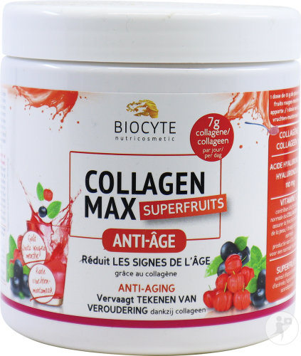 Biocyte Collagen Max Supervruchten Poeder Pot 260g