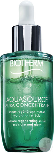 Biotherm Aquasource Aura Concentrate Intens Regenerend Serum Hydratatie Gloed Flacon 50ml