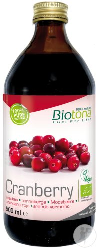 Biotona Cranberry Geconcentreerd Sap Bio 500ml