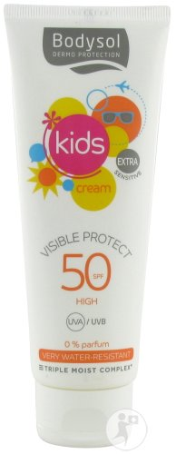 Bodysol Kids Cream Visible Protect SPF50 Fles 125ml Nieuwe Formule