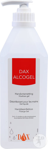 Dax Alcogel 85 Handontsmetting Vloeibare Gel Pompfles 600ml (0496)