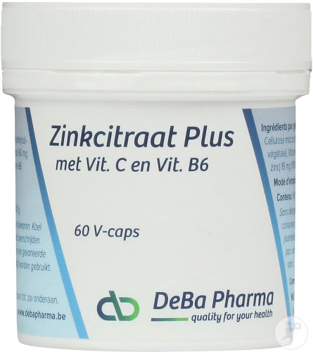 Deba Zinkcitraat Plus 60 Capsules