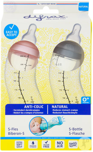 Difrax S Babyfles Natural Girl Double Pack 2x250ml