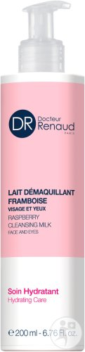 Dr Renaud Raspberry Cleansing Milk Hydrating Care Face And Eyes Pompfles 200ml