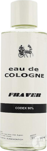 Eau De Cologne Codex 90% Fraver 500ml
