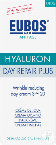 Eubos Anti-Age Hyaluron Day Repair Plus SPF20 Anti-Rimpel Dagcreme Pompfles 50ml