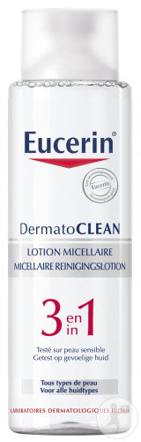 Eucerin DermatoClean 3 In 1 Micellaire Reinigingslotion Alle Huidtypes 400ml