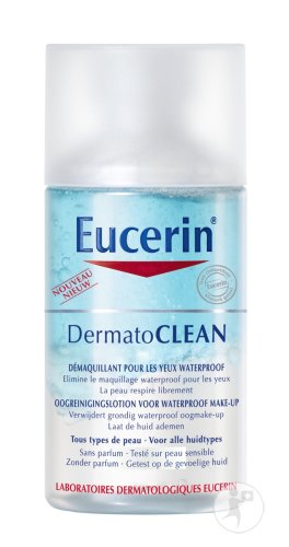 Eucerin DermatoClean Oogreinigingslotion Waterproof Make-Up Alle Huidtypes 125ml