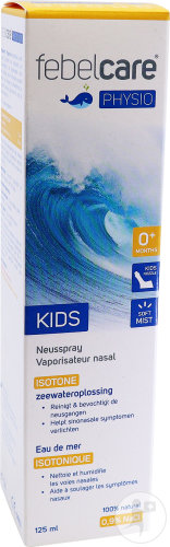 Febelcare Physio Kids Neusspray Isotone Zeewateroplossing +0 Maanden Spray 125ml