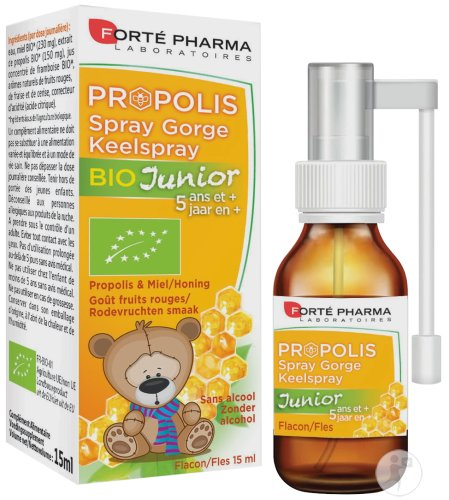 Forté Pharma Propolis Keelspray Junior Bio Fles 15ml