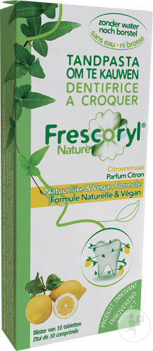 Frescoryl Nature Kauw Tandpasta Citroen Smaak 10 Tabletten