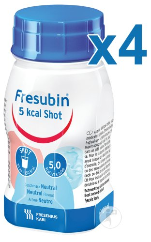 Fresubin 5 Kcal Shot Neutraal Flacons 4x120ml