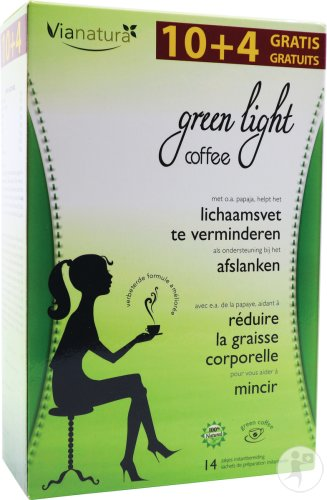 Green Light Coffee Bio 10 Zakjes + 4 Zakjes Gratis