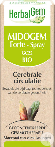 Herbalgem Midogem Forte GC25 Cerebrale Circulatie Complex Bio Spray 10ml