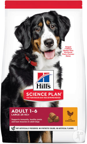 Hill's Pet Nutrition Science Plan Canine Adult Advanced Fitness Large Breed Met Kip 18kg