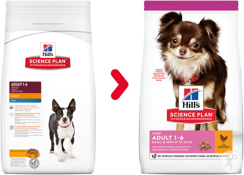 Hill's Pet Nutrition Science Plan Canine Adult Light Mini Met Kip 2,5kg
