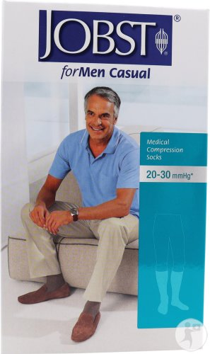 Jobst For Men Casual K2 Kniekous Gesloten Teen Midnight Navy Medium 1 Paar (7548505)