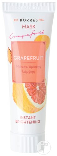 Korres Instant Brightening Mask Grapefruit Alle Huidtypen Tube 18ml