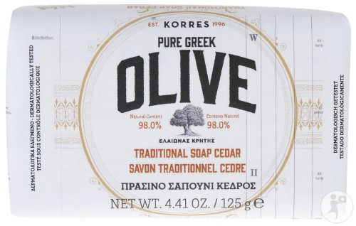 Korres KB Pure Greek Olive Traditionele Zeep Ceder Alle Huidtypen 125g