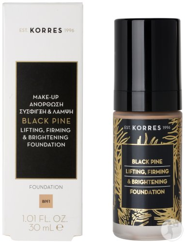 Korres KM Black Pine Lifting Firming & Brightening Foundation Mature Skin Shade 1 Fles 30ml