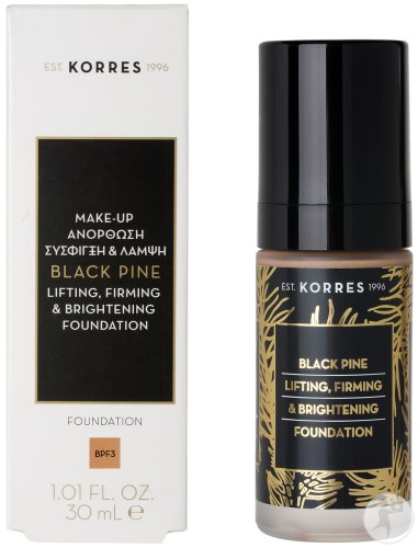 Korres KM Black Pine Lifting Firming & Brightening Foundation Mature Skin Shade 3 Fles 30ml