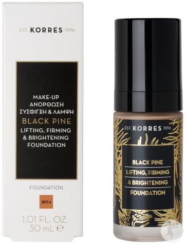 Korres KM Black Pine Lifting Firming & Brightening Foundation Mature Skin Shade 4 Fles 30ml